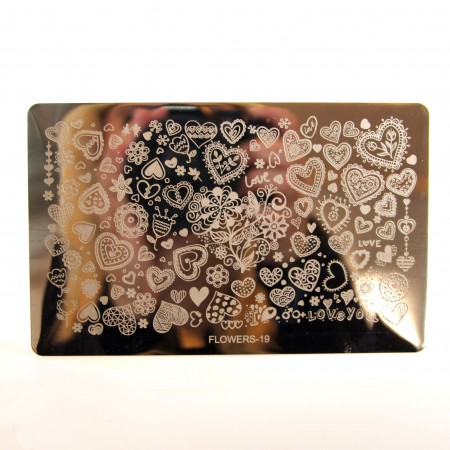 Stamping Plade Flowers-19